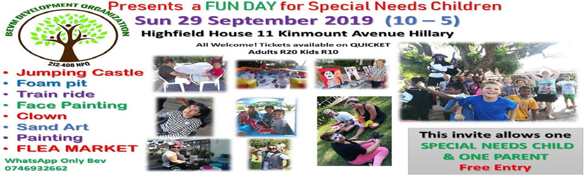 Fun Day for Special Needs kids | Durban | Things to do With Kids