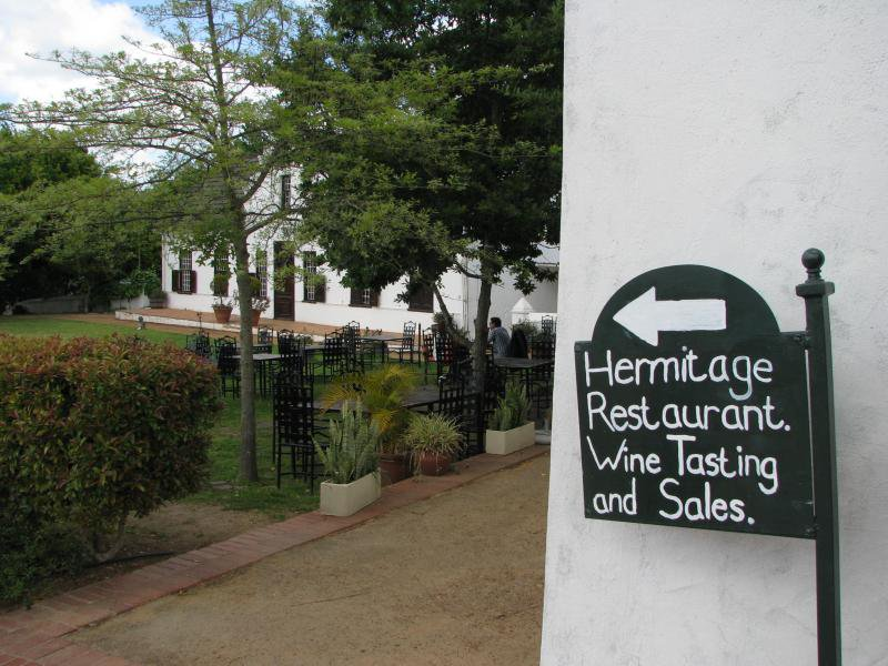 Hermitage family  restaurant Stellenbosch Bottelary road