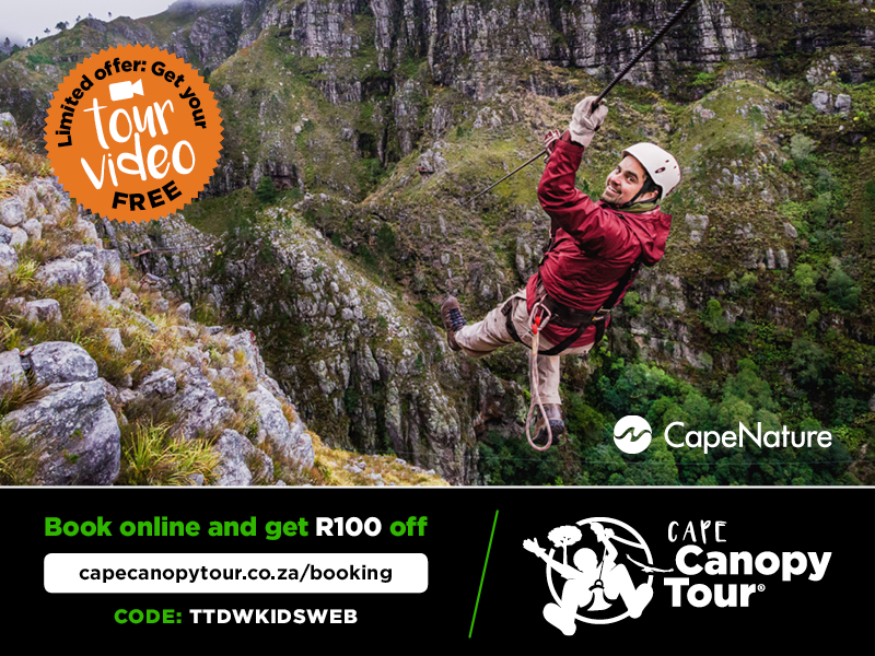 R100 Discount per head at Cape Canopy Tours for Things to do With Kids readers