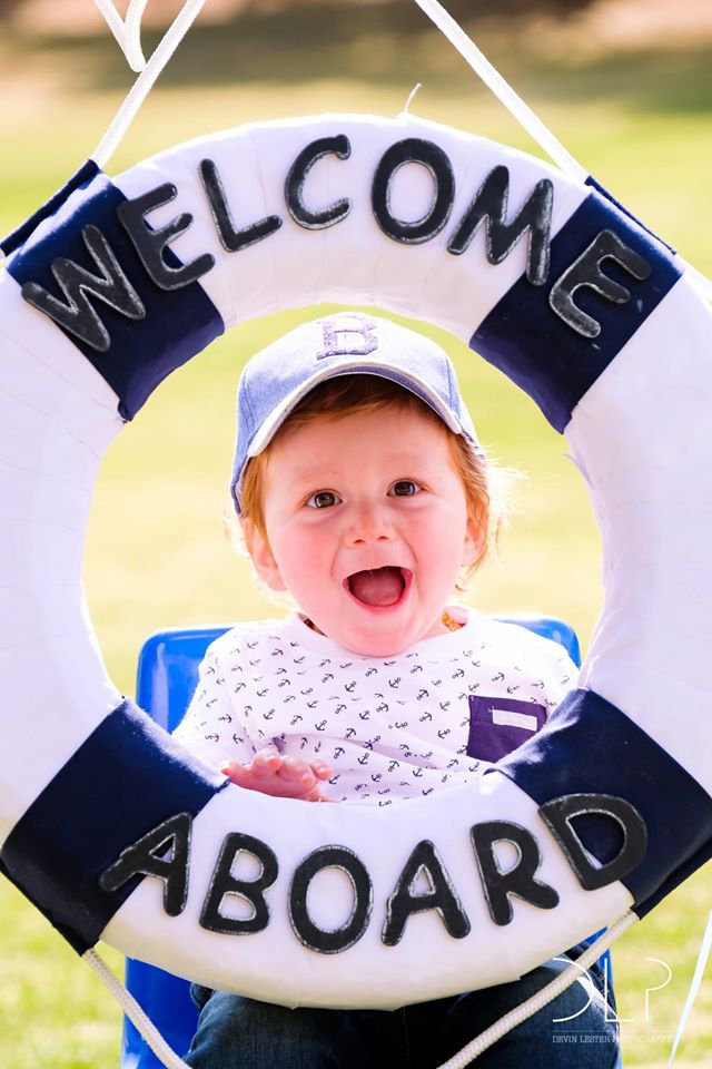 Josh's Nautical-Theme 1st Birthday Party - Devin Lester Photography