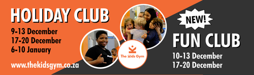 The Kids Gym Holiday Fun Club | Johannesburg | Things to do With Kids