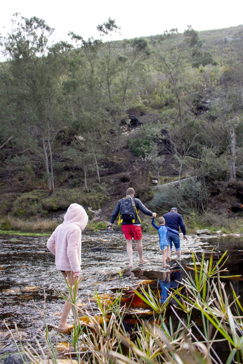 Waterfall near Swellendam Buffeljags | Family Friendly Farmstay | Things to do with Kids