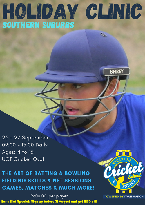 Cricket School Of Excellence | Cape Town | Holiday Clinic | Things to do With Kids