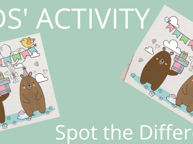 Kids Activity, spot the difference