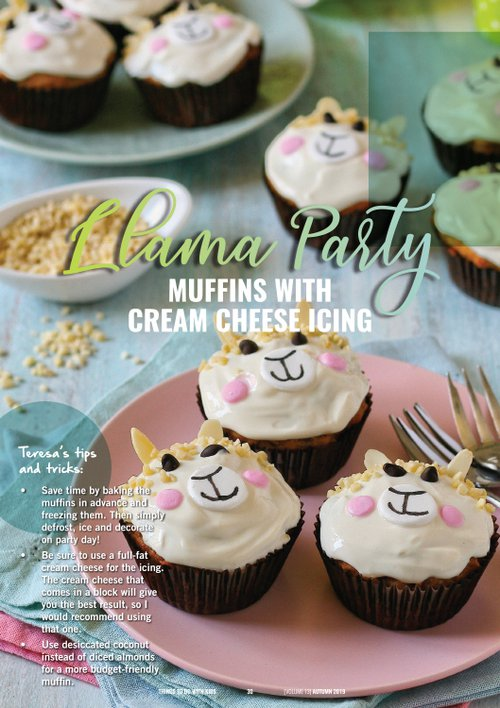 Llama Party Muffins with Cream Cheese Icing | Recipe | Things to do With Kids