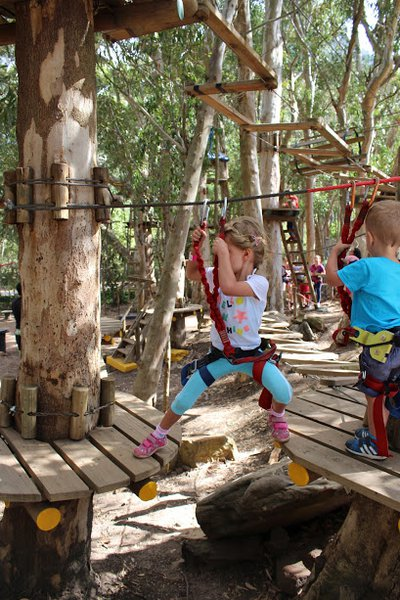 Outdoor adventure play park | Acrobranch | Things to do with Kids South Africa