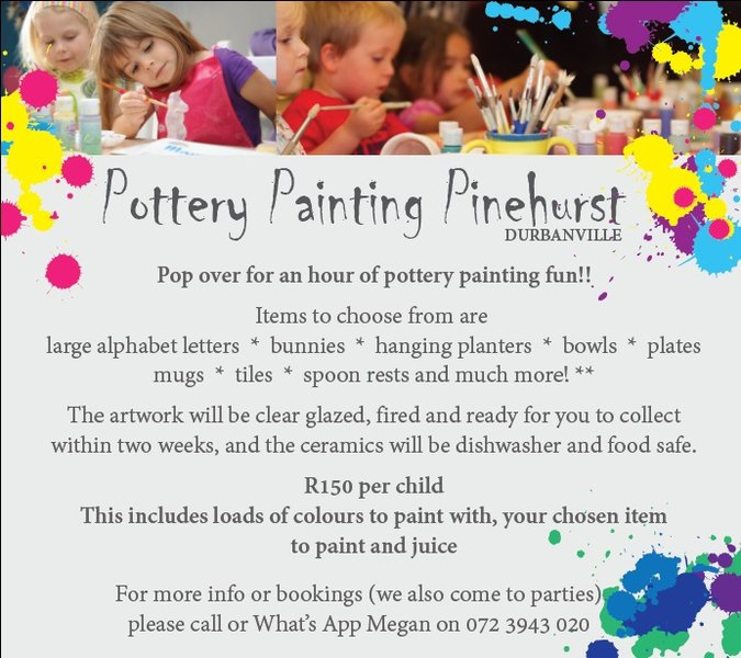 Kids Party Entertainment | Melt Ceramics | Things to do with kids | Durbanville