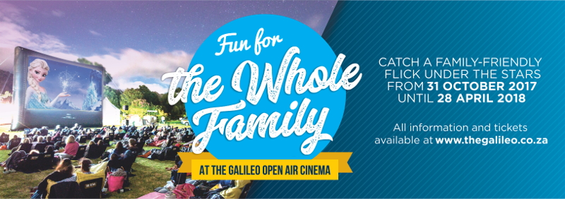 Win tickets to your favorite child-friendly movie at The Galileo outdoor cinemas