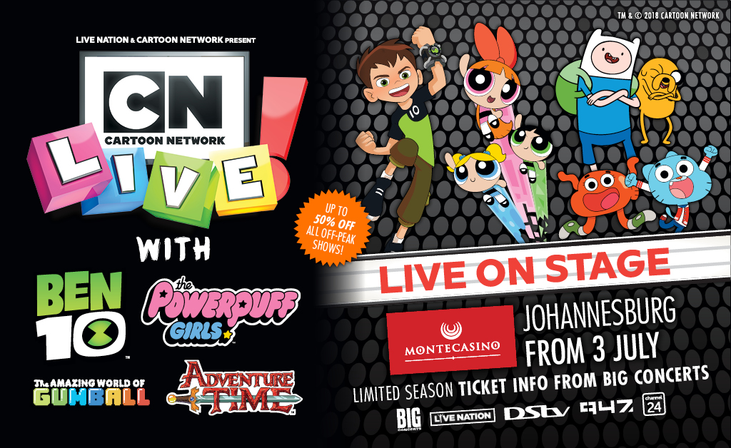 Win 4 x Tickets to Cartoon Network Live Johannesburg!