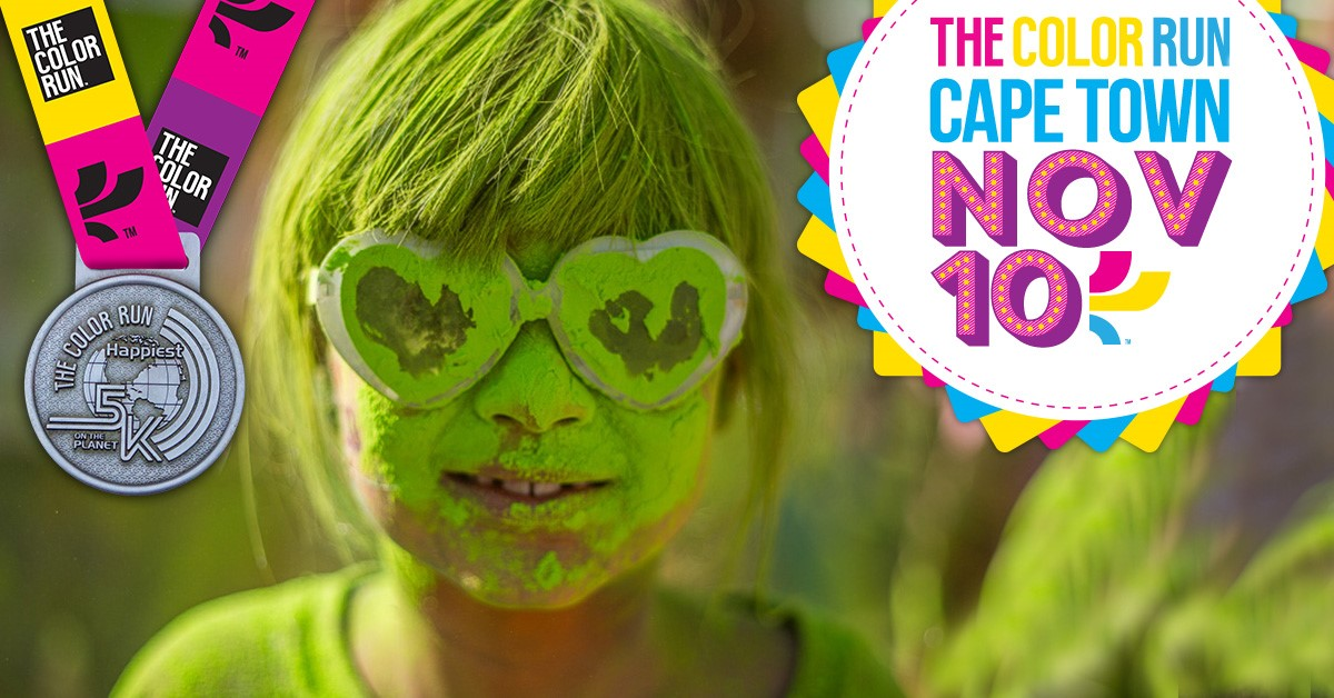 Enter to WIN 2 x Adult + 2 x Kids tickets and a selection of goodies for the @TheColorRunSA in Cape Town!
