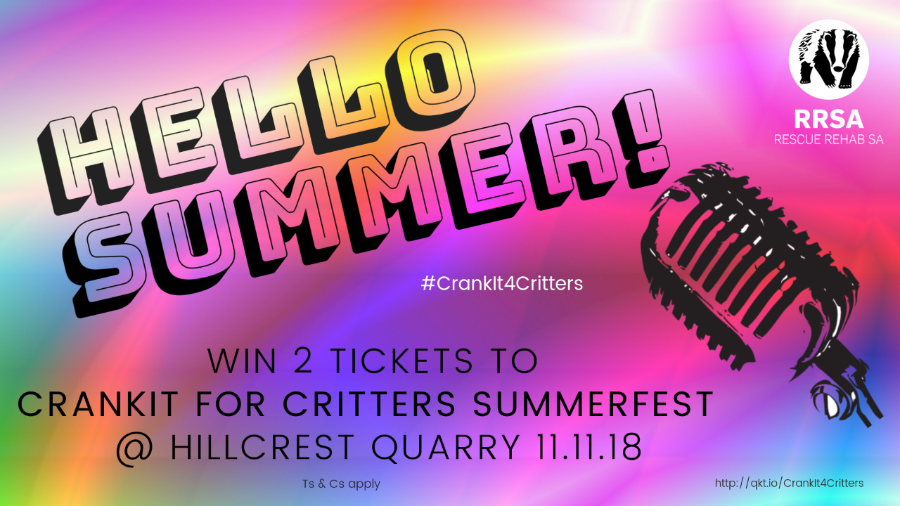 Win 2 x tickets to CRANKIT FOR CRITTERS at Hillcrest Quarry – Kids under 12 go free!