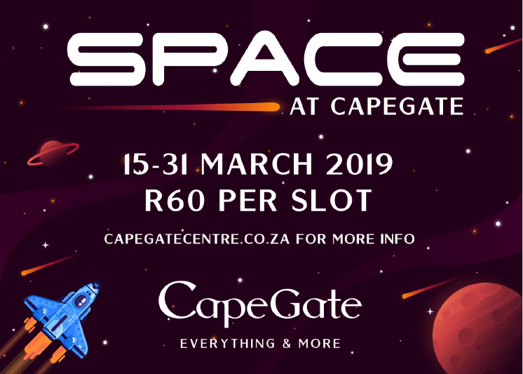 2 x Winners can Win 2 x tickets to SPACE @Capegate these March school holidays