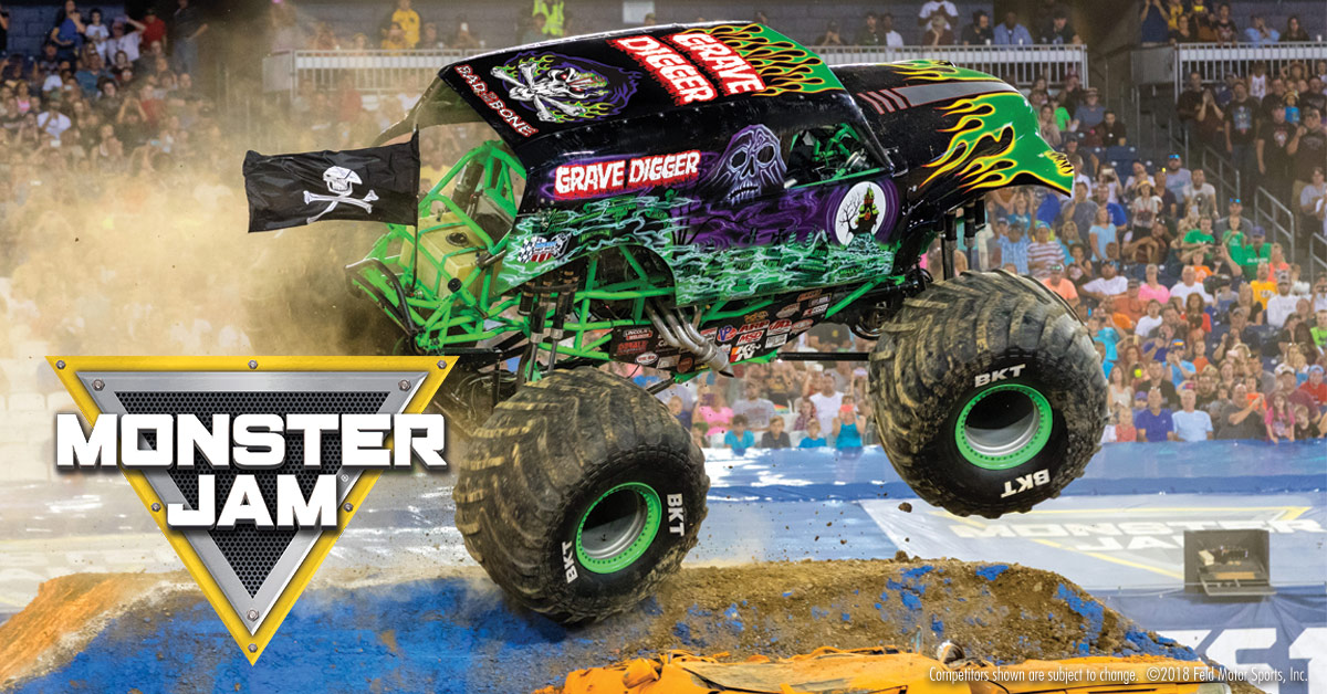 Win four x combined MONSTER JAMPit Party and Event family tickets in Durban, Moses Mabhida Stadium