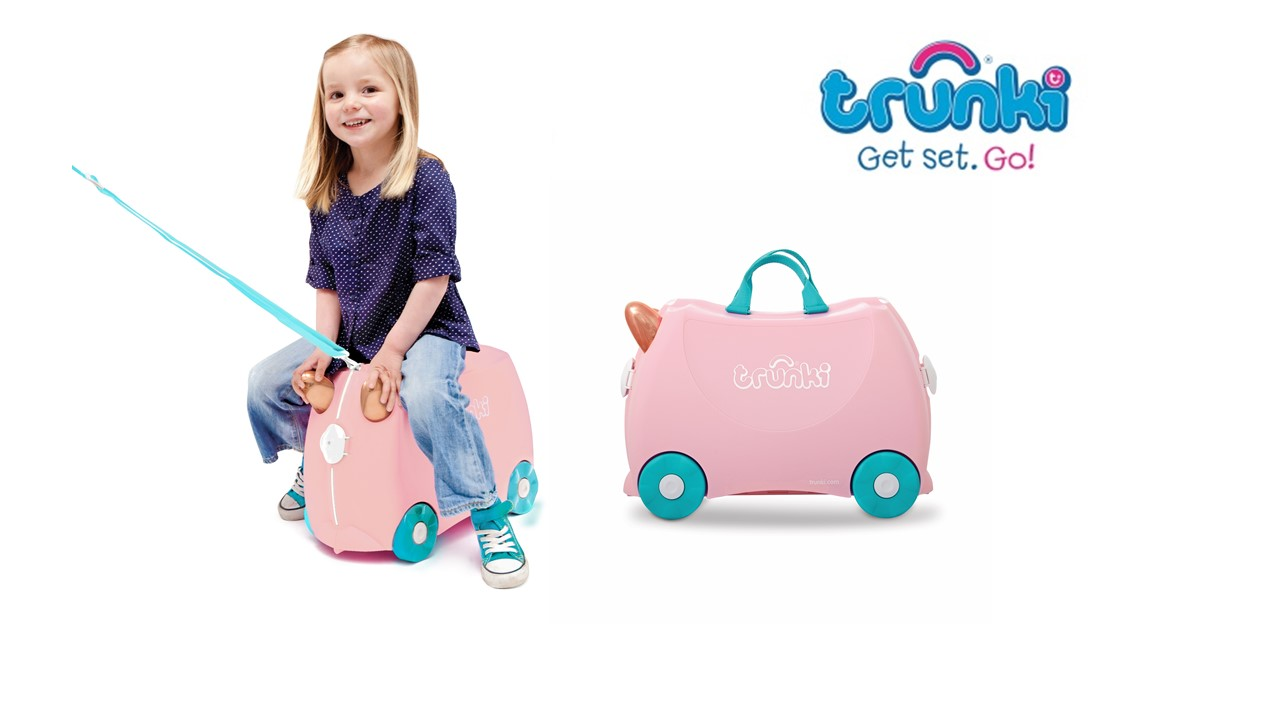 Enter to Win a fantastic Flossie the Flamingo Trunki Suitcase with @trunkisouthafrica