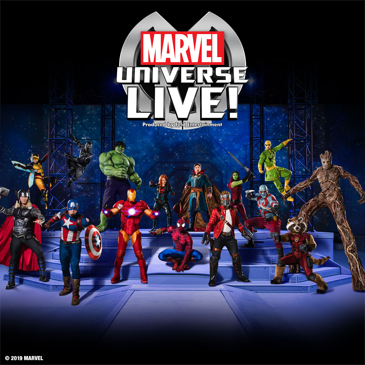 Win a set of four family tickets to Marvel Universe LIVE!